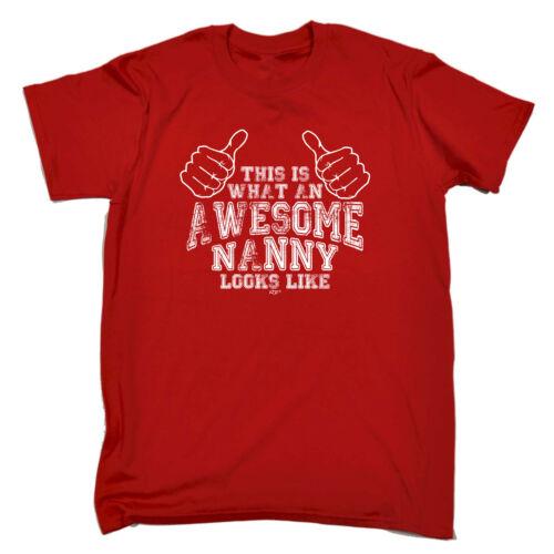 Awesome Nanny Funny Novelty T-Shirt Mens tee TShirt