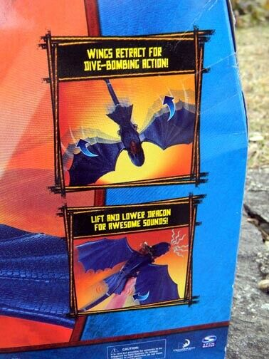 NEW    HOW to TRAIN YOUR DRAGON DIVE BOMB NIGHT FURY 6 FOOT WING SPAN Spinmaster 765c1d
