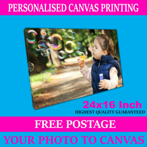 A2 Print on Canvas Print Your Personalised Photo Picture Personalised Art 24x16/""