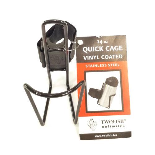 TwoFish quickcage 24 oz Vélo Bouteille d/'eau Cage enduits de vinyle noir Road Mountain Bike environ 680.38 g