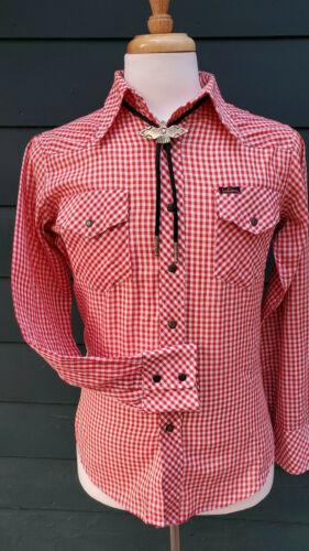 70s Iconic Landlubber Western Gingham Shirt