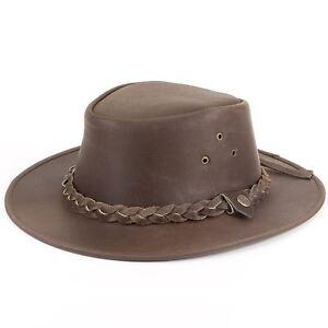 ce94c10b82145 La imagen se está cargando Sombrero-de-Cowboy-Australiano-Ala-Ancha -marron-gastado-
