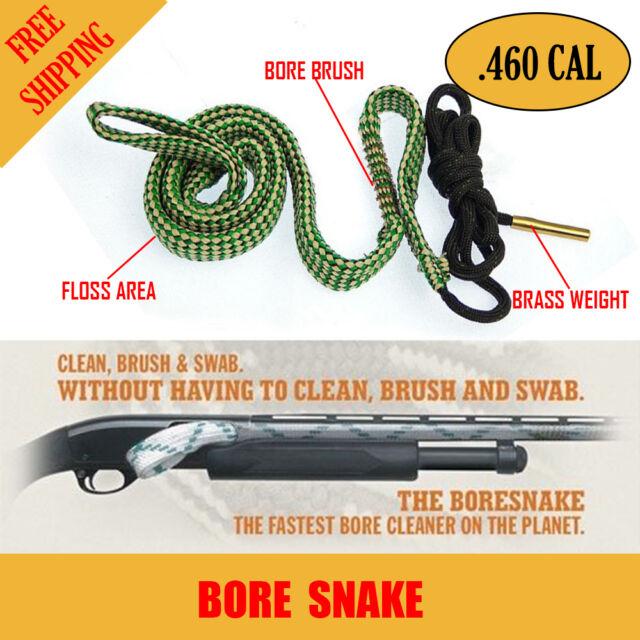 Hunting Bore Brush .460 Cal Rifle Shotgun Pistol Cleaning Kit Gun Snake Cleaner