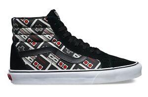 0e310a7573 New Men Nintendo and Vans NES CONTROLLERS SK8-Hi Skate White Black ...