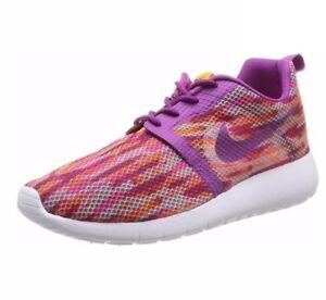 9a1c82f4e11d8 Youth Girls Nike Roshe run Flight Weight GS Blend Berry Shoes ...