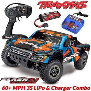 d3c2017f2ab NEW Traxxas Slash 4x4 Ultimate VXL RC Truck 60+MPH LiPo & Charger ...