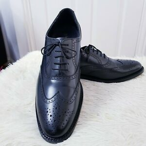 SAMUEL WINDSOR ENGLAND Handmade Cuir Complet Chaussures Noir Taille 10 Homme Chaussures