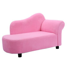 Kids Toddlers PVC Coral Fleece / Princess Sofa / Day Couch / Chaise Lounge Pink