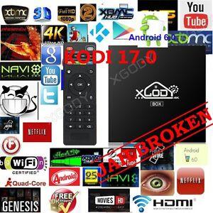 XGODY S905X KODI 17.0 FULLY LOADED Smart Android 6.0 TV BOX 4K Free Movies Sport