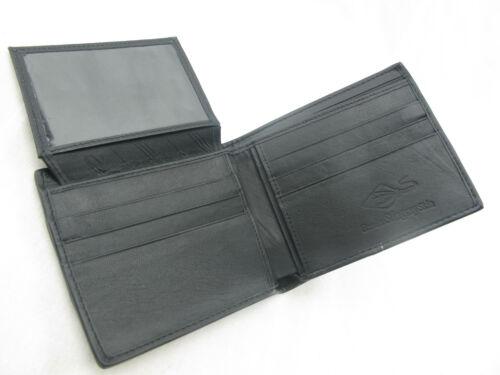 FREE SHIPPING Genuine Black Row Stingray Skin Leather Mens Bi-Fold Wallet