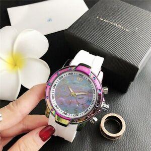 New-In-Box-Women-039-s-amp-Men-039-s-Dress-Wristwatch-Scallop-shell-Calendar-Watch