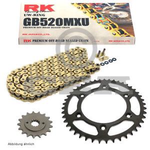 Kettensatz KTM SX 125  93-14 Kette RK GB 520 MXU 118 offen GOLD 13/50