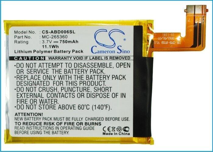 Cameron SinoEbook, eReader BatteryCS-ABD006SL for AMAZON D01100 etc.