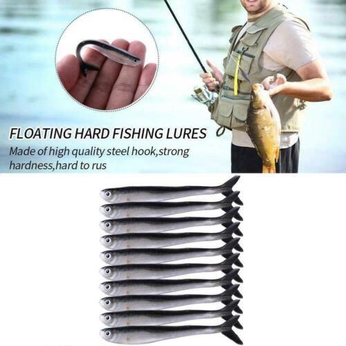 10pcs Realistic Bait Fishing 8cm//30g Perch Pike Chub lures S7O9
