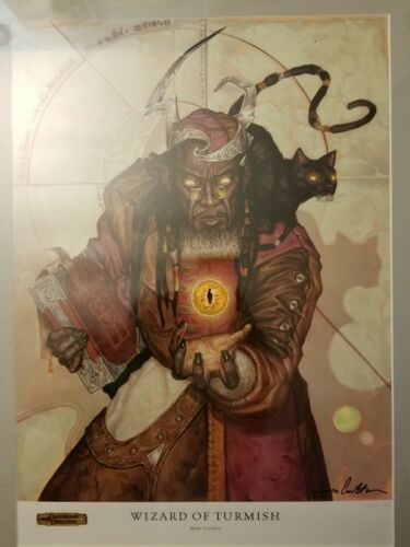 Wizard of Turmish signed print dungeons and dragons