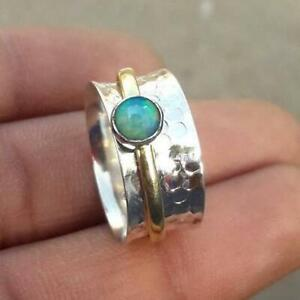 925-Sterling-Silver-Spinner-Ring-Opal-Ring-Meditation-Ring-Opal-Spinner-Ring