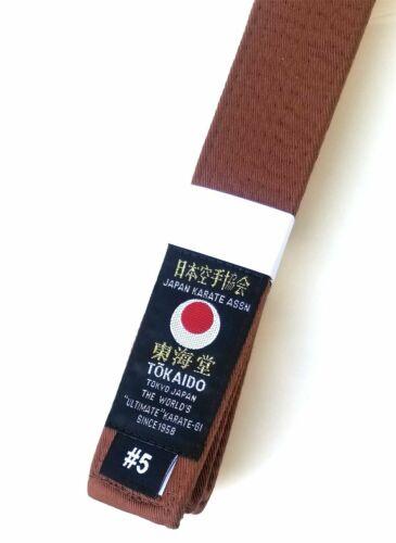 "Tokaido JKA Karate Brown Belt 1.5/"""