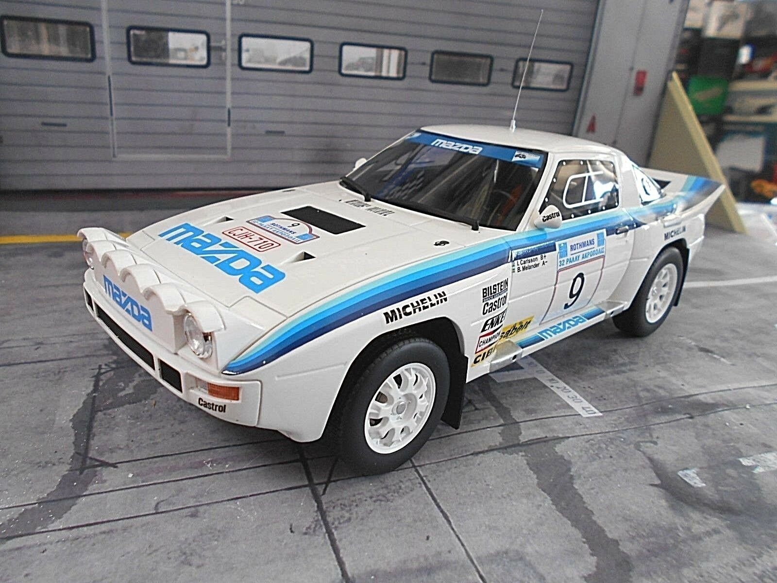MAZDA rx-7 Wankel RALLY mis. B RALLY  5 Carlsson acropoli WM 1985 otto 1 18