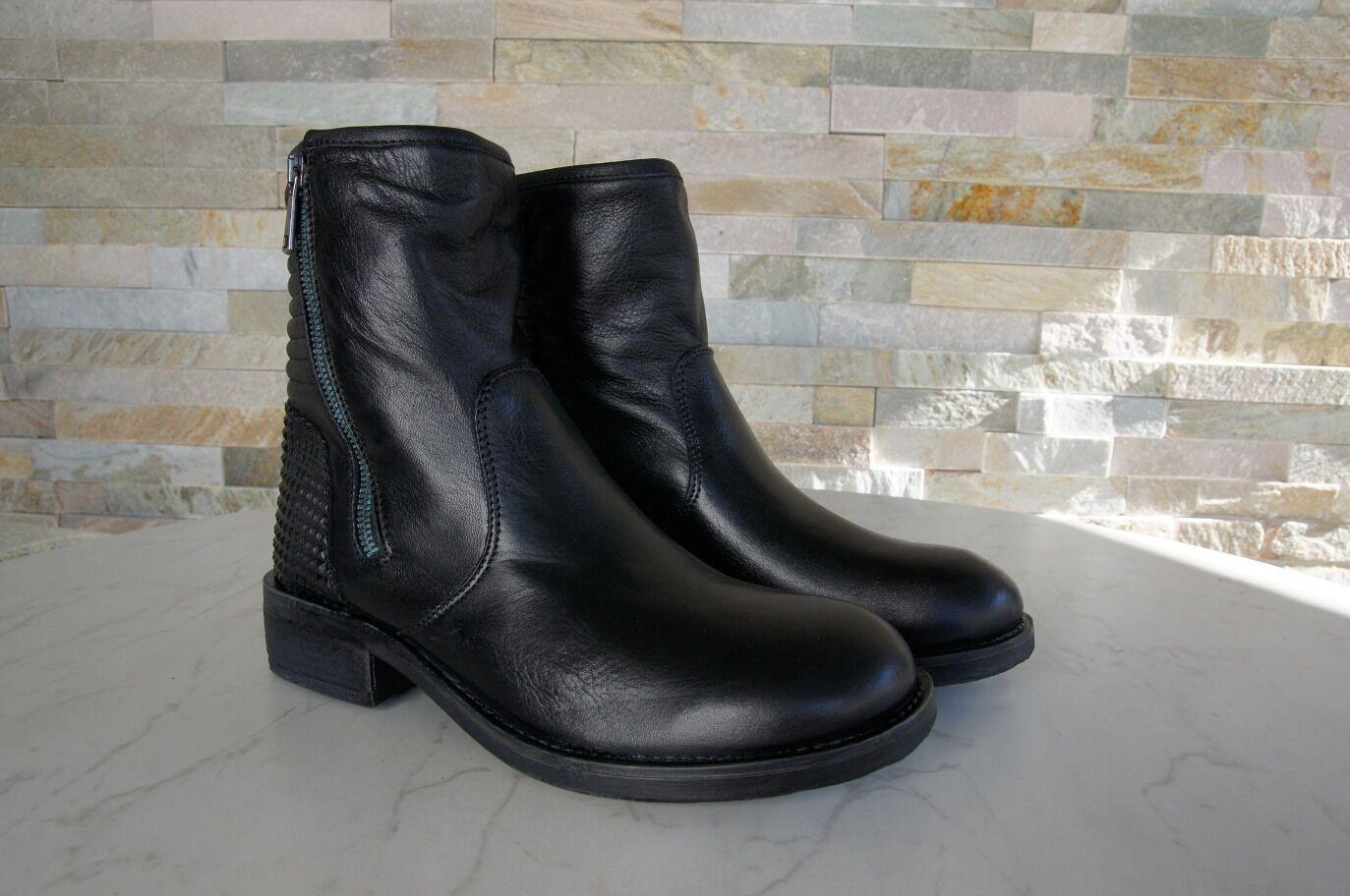 anna fidanza Gr 37 Stiefeletten Leder NEU Schuhe shoes schwarz nero NEU Leder 7d28c5