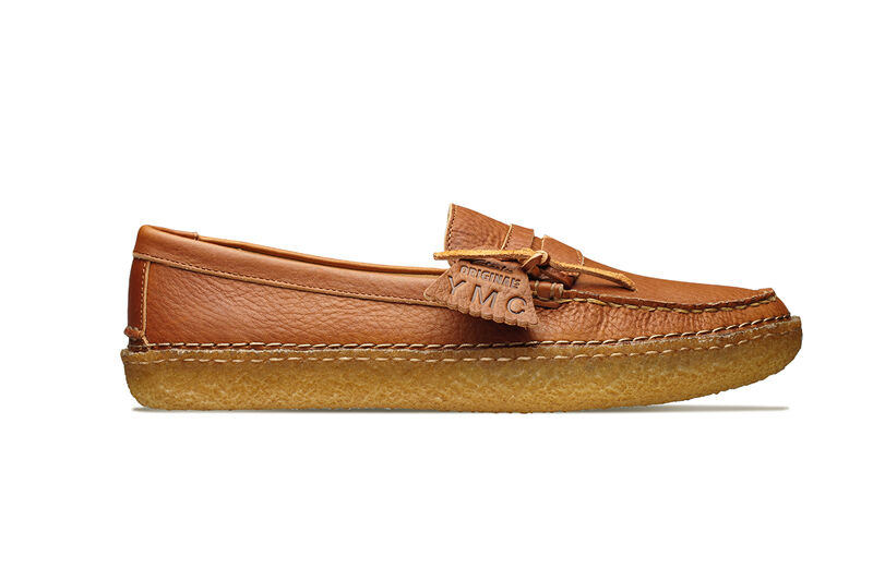 CLARKS ORIGINAL   DESERT EDMUND CREATE  COGNAC LEATHER  SLIP ON