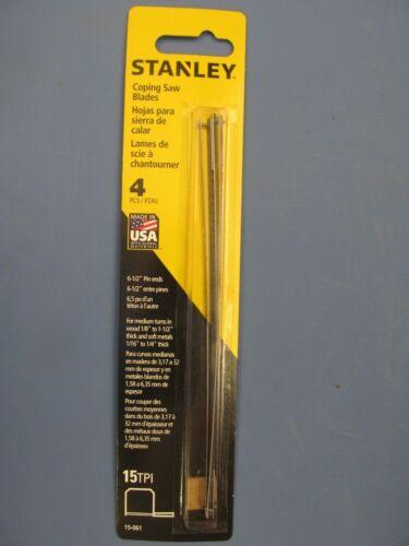 """8 Stanley Coping Saw Blades 6-1//2/"""" long 15 TPI 2 paquets de 4 pièces NOUVEAU"""