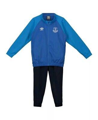 Blue Umbro Everton FC Kid/'s Knit Tracksuit Jacket New