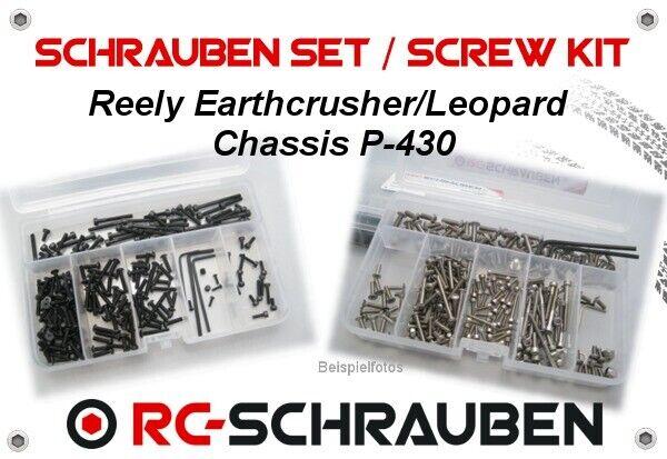 risposte rapide Set di viti viti viti per il Reely earthcrusher Leopard (p-430) - in acciaio inox & acciaio  edizione limitata