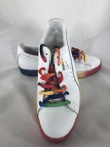 super popular f4cd0 b110b Details about Puma Lgbtq Mens Sz 9 Clyde Pride Rainbow Comfort Sneakers