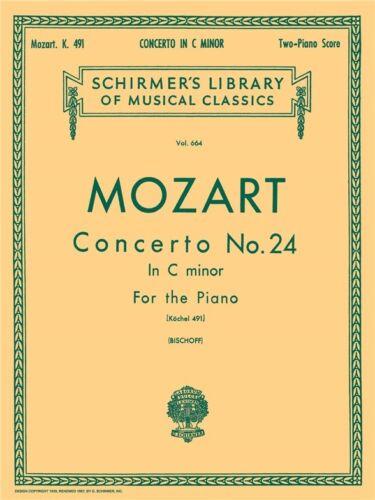 Mozart Piano Concerto No.24 In C Minor K.491 2 Piano Score Play Music Book W.A