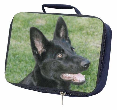 AD-G3LBN Black German Shepherd Dog Navy Insulated School Lunch Box Bag