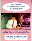 Verbal Reasoning: The A-plus Series of Secondary School Entrance 11+ Practice Papers: v. 1: with Answers by Mark Chatterton (Paperback, 2001)