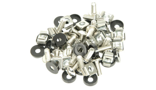 50 Pack M6 Rail U2 U4 Case Clips Cage Nuts Washers 19inch Rack bolts /& washers