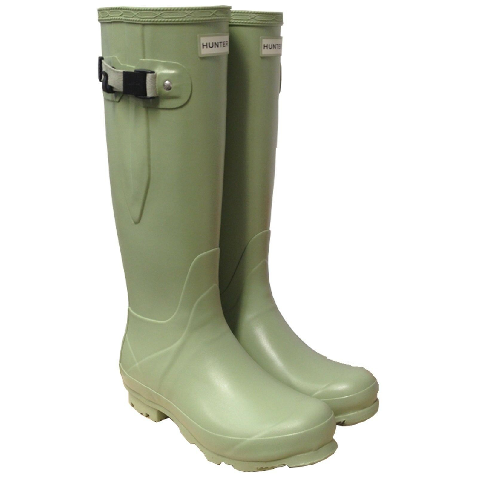Hunter mujer Green Field Norris Campo lado Ajustable Botas Wellington Wellies/