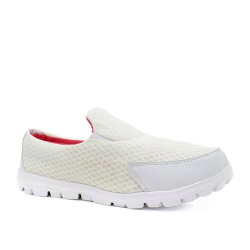 New Womens Girls Lightweight Slip On Trainers Pumps Ladies Flat Shoes Size 1-9