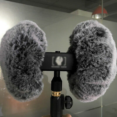 Asmr Wind Shield For 3dio Headrec Free Space Binaural Mic Outdoor Fur Windscreen Video Production & Editing Cameras & Photo