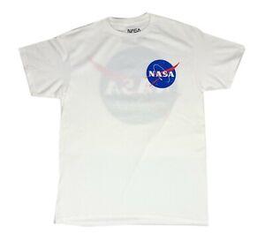 NASA-Logo-Original-Front-Back-Print-Licensed-Mens-T-Shirt-M-XL