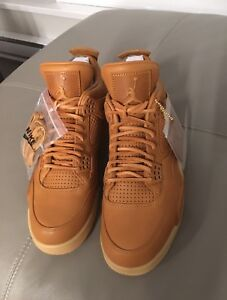 more photos ecc96 e374c Image is loading Nike-Air-Jordan-4-IV-Retro-Premium-Wheat-