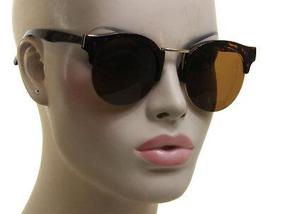 Gorgeous Women Retro Vintage Fashion Round Cat Eye Brown Tortoise Sunglasses