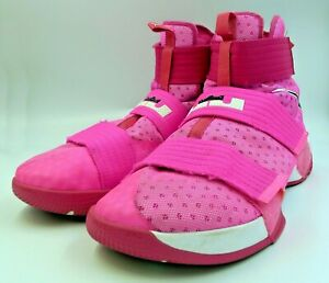 cheap for discount a8800 b18a4 Details about Nike LeBron Soldier Ten Basketball Shoe Breast Cancer Think  Pink Yow LRJ LSX 17