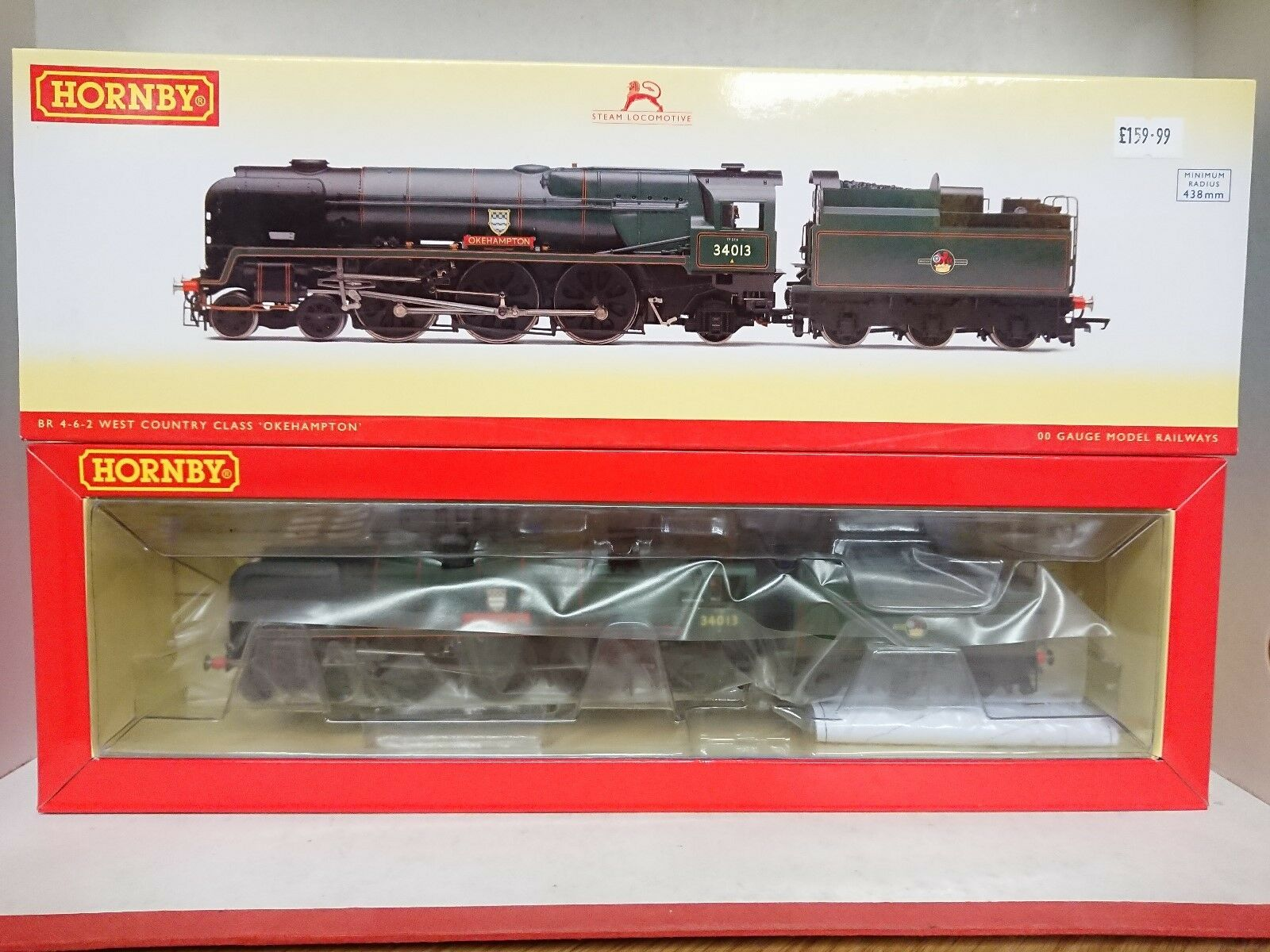Hornby R3203 BR 4-6-2 Rebuilt West Country Class OKEHAMPTON 34013 DCC Ready NEW