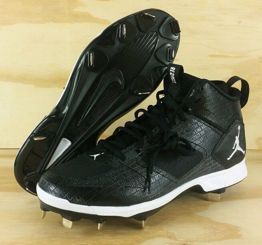 Nike Air Jordan Derek Jeter Re2pect Baseball Cleats Black AO2914-002 Mens Size 8