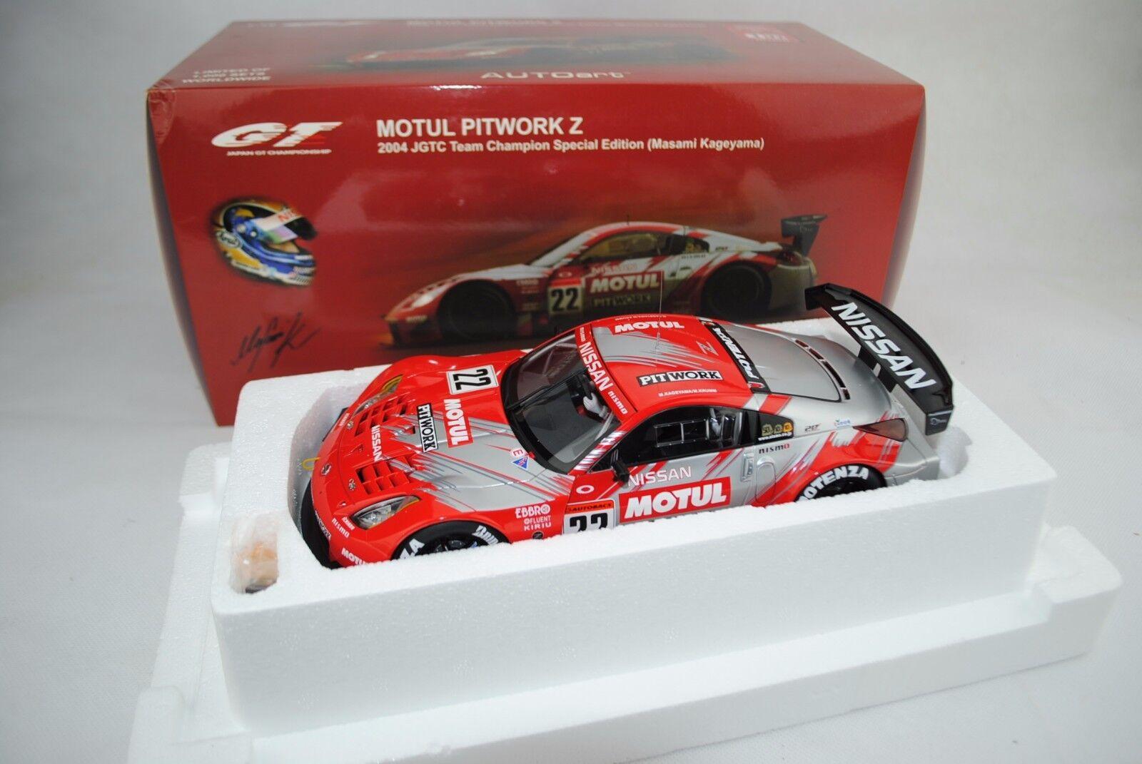 1 18 Autoart Nissan Motul Pitwork Z 2004 Jgtc   22 avec driver figurine lmt.1000    prix les plus bas