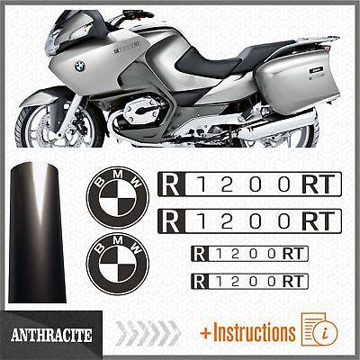 6x R1200RT Black Matt BMW Motorrad PEGATINA R 1200 RT AUTOCOLLANT AUFKLEBER