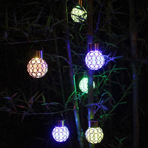 Color Changing DEL Solaire Cristal jardin suspension globe boule extérieur Party Light