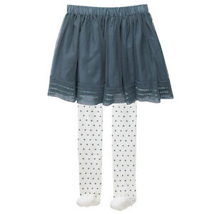 NWT-Target-Girls-Tulle-Sequins-Skirt-with-Tights-Stockings-Outfit-Set-Size-5