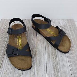 d58db6cd647 Birkenstock Rio Black Birko-Flor Sporty Sandals Womens Size 41 US 10 ...