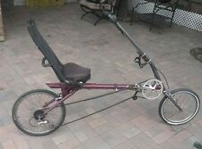 Recumbent Bicycle Made in USA Vision R30 Metro 21 speed foldable .
