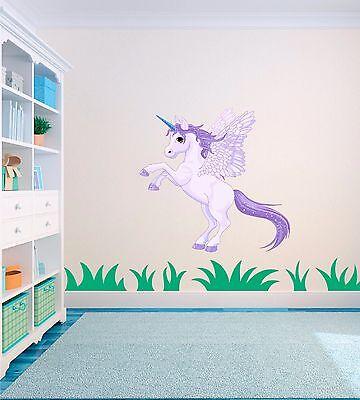 poney et Nom Personnalisé Chambre Enfant Vinyle Mur Autocollant Art Autocollant # 3 Cheval