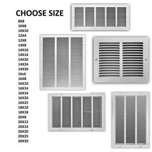 Details about STEEL RETURN VENT Grille Ceiling Wall COVER Wall Register AC  Duct Sizes