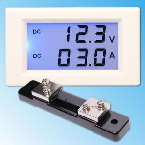0-200V-50A-DC-Digital-LCD-Voltmeter-Amperemeter-Spannungsmeter-Ammeter-Shunt